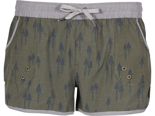 United By Blue Painted Pines Pantaloncini sport acquatici Donna, olive